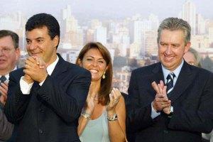 Beto Richa e Luciano Ducci tomam posse na Prefeitura em 2005