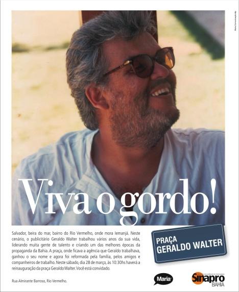 Anúncio criado por João Silva e Cesio Oliveira, veiculado pelo Sinapro nos jornais de Salvador graças à ajuda de Vera Rocha.